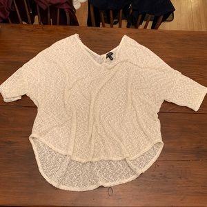 Cream gold sweater